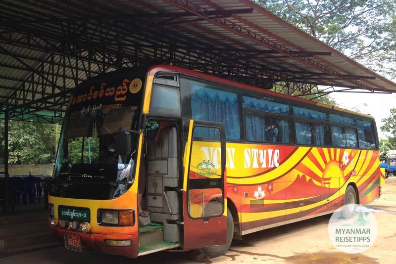 Myanmar Reisetipps | Hpa-an | Bus nach Myawaddy