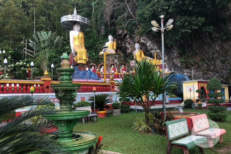 Myanmar Reisetipps | Hpa-an | Eingang von der Höhle Kaw Ka Taung
