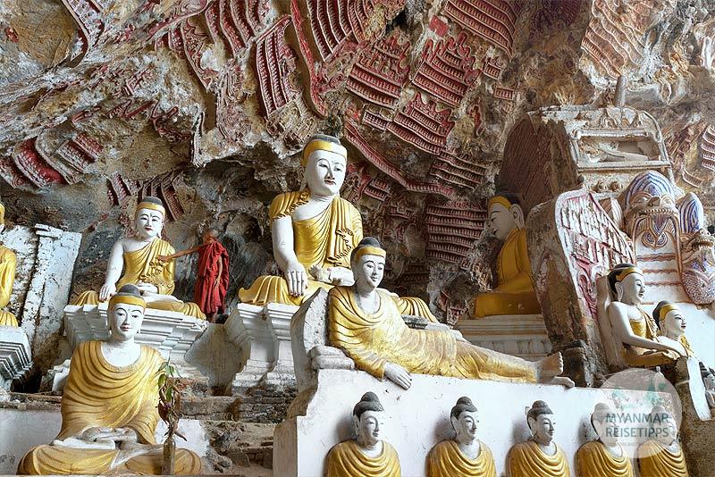 Myanmar Reisetipps | Hpa-an | Novize in der Kawt-Gon-Höhle