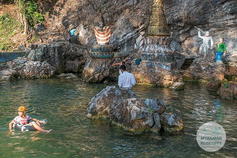 Myanmar Reisetipps | Hpa-an | Naturpool Yae Ta Khun