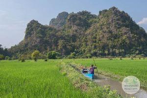 Myanmar Reisetipps | Hpa-an | Mit dem Boot zurück zum Eingang der Saddar-Höhle