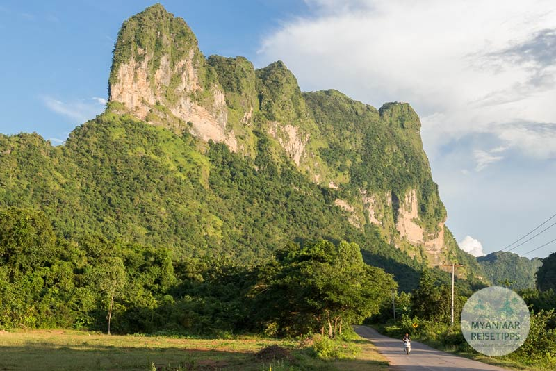 Myanmar Reisetipps | Hpa-an | Umgebung mit dem Roller