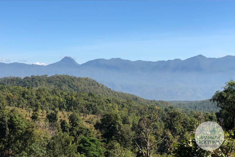 Myanmar Reisetipps | Loikaw | Landschaft auf dem Weg nach Daw Ta Ma Gyi