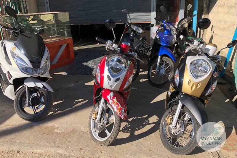 Myanmar Reisetipps | Loikaw | Dieses Motorbikes könnt ihr bei Victoria mieten.