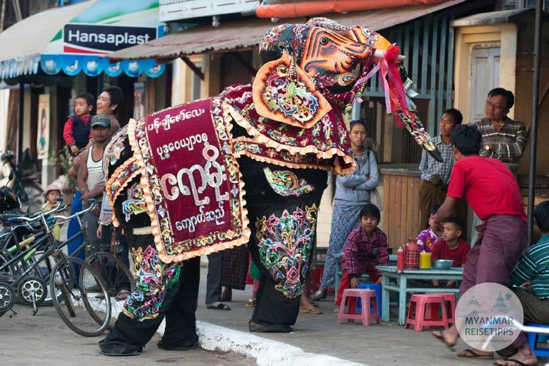Myanmar Reisetipps | Festival | Dancing Elephants Festival in Kyaukse