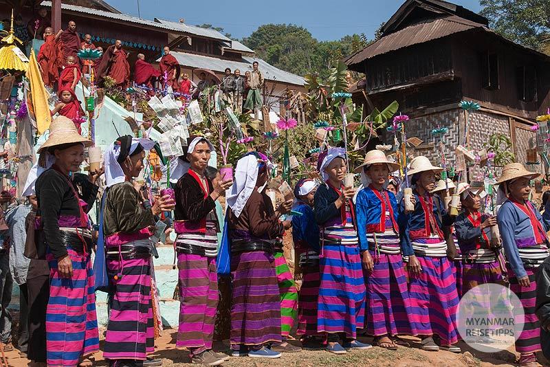 Myanmar Reisetipps | Festival | Palaung-Fest in Pankam - Hsipaw