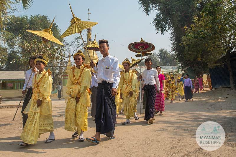 Myanmar Reisetipps | Festival | Novizenweihe Shin Pyu