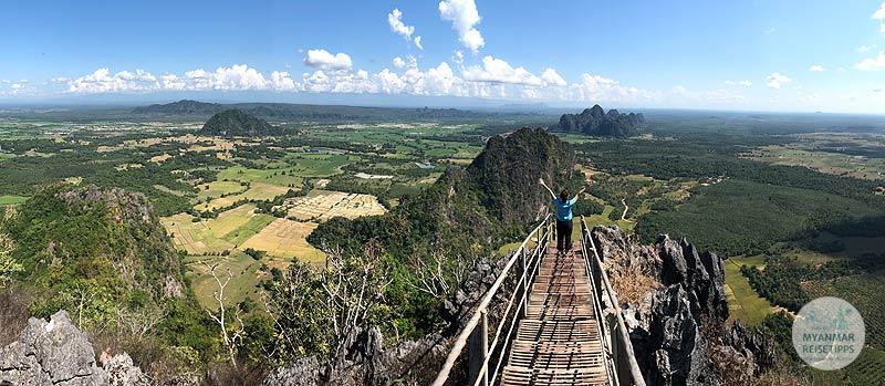 Myanmar Reisetipps | Hpa-an | Aussicht vom Berg Taung Wine