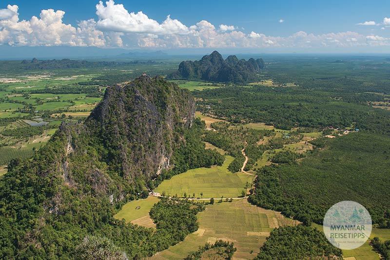 Myanmar Reisetipps | Hpa-an | Ausblick vom Taung Wine
