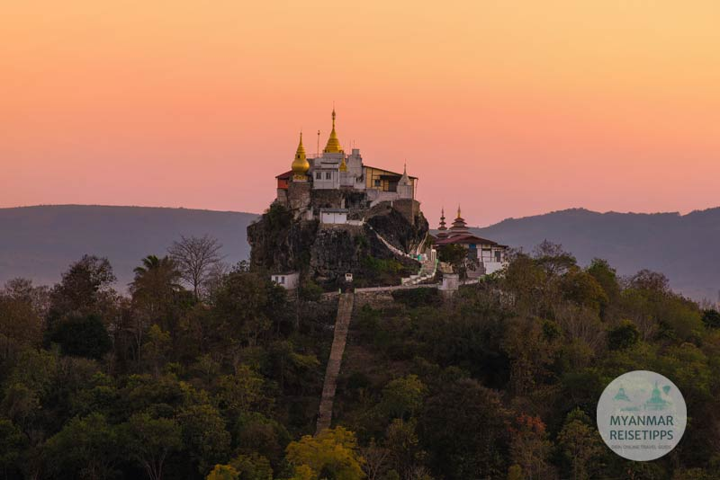 Myanmar Reisetipps | Loikaw | Pagode Mya Kalat Taung am Abend