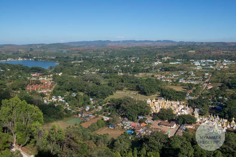 Myanmar Reisetipps | Pindaya | Ausblick von der Shwe-U-Min-Höhle