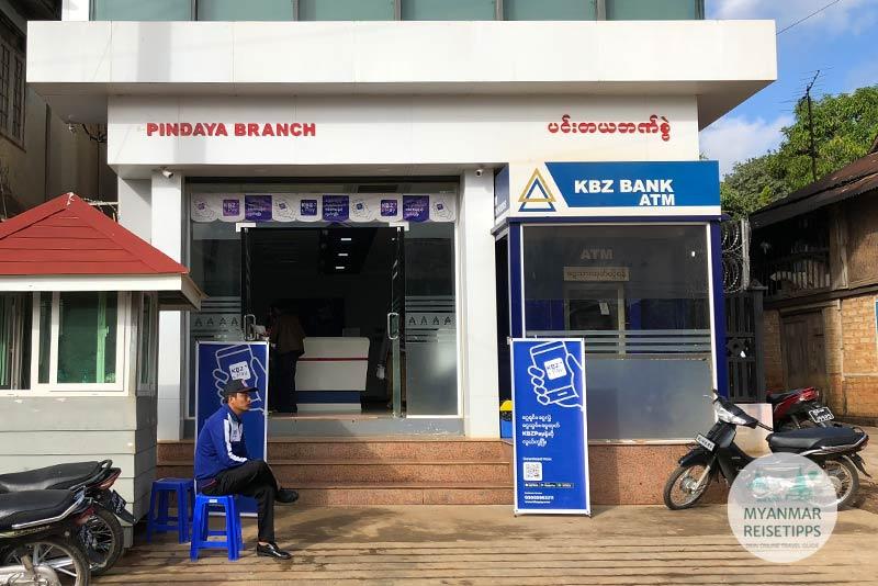 Myanmar Reisetipps | Pindaya | KBZ Bank in Pindaya