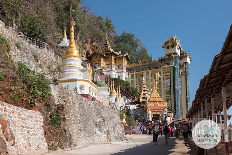 Myanmar Reisetipps | Pindaya | Eingang zur Höhle Shwe U Min
