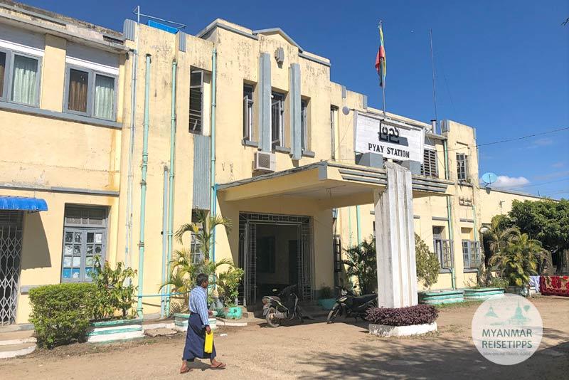 Myanmar Reisetipps | Pyay | Bahnhof