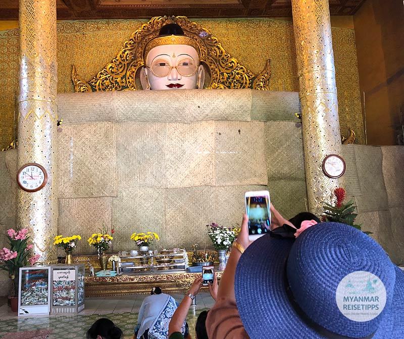 Myanmar Reisetipps | Pyay | Buddha mit Brille in Shwetaung
