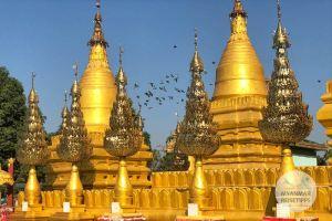 Myanmar Reisetipps | Pyay | Shwebawtha-Pagode am anderen Ufer des Ayeyarwady