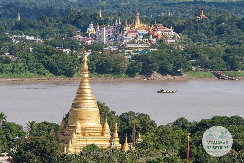 Myanmar Reisetipps | Pyay | View auf die Shwesandaw-Pagode