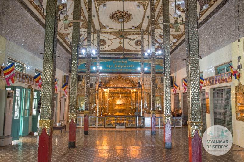 Myanmar Reisetipps | Pyay | Ordinationshalle in der Shwesandaw-Pagode