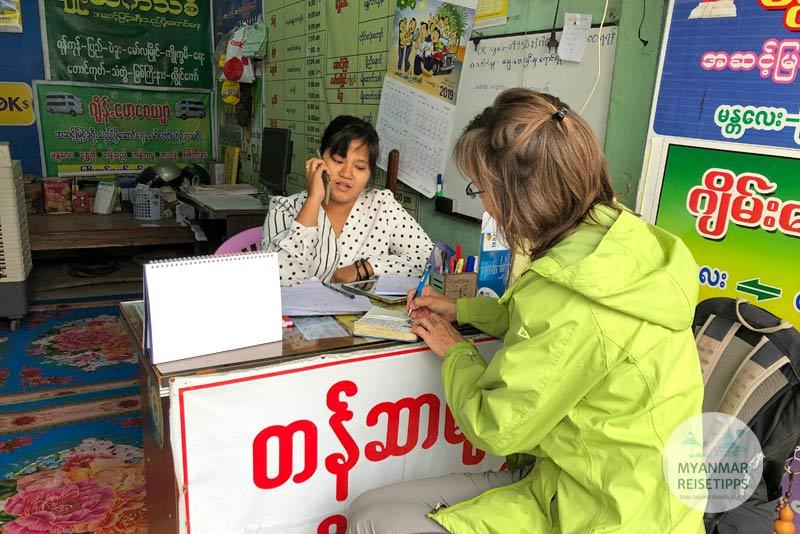 Myanmar Reisetipps | Pyay | Min Myanmar Ticketoffice
