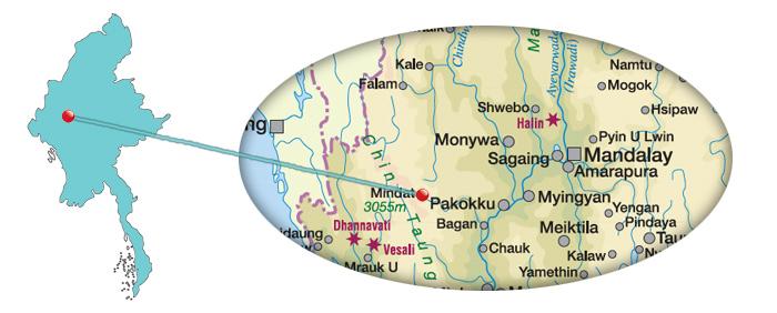 Myanmar - Karte Mindat