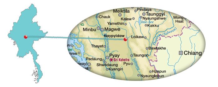 Karte von Naypyidaw