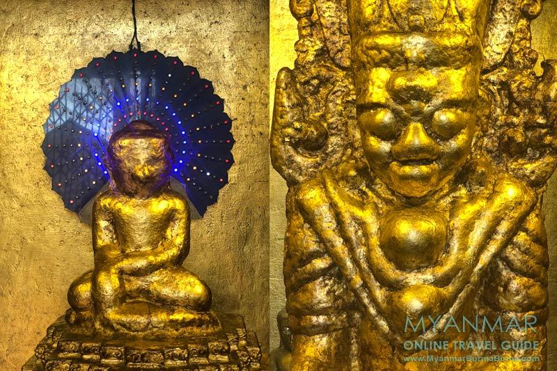 Myanmar Reisetipps | Hsipaw | Buddha-Statuen im Innern der Bawgyo-Pagode
