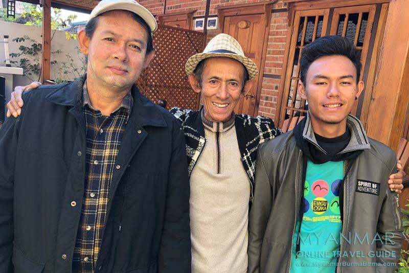 Myanmar Reisetipps | Hsipaw | Jo Jo (Kyaw Nyein), sein Sohn Ko Oo und sein Enkel