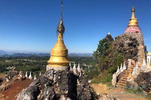 Myanmar Reisetipps   Kalaw   Stupas am Brave Woman Mountain