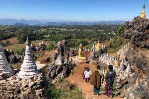 Myanmar Reisetipps   Kalaw   Aussicht vom Brave Woman Mountain