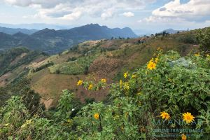Myanmar Reisetipps   Kalaw   Ausblick vom Palaung-Dorf Hin Kha Gone
