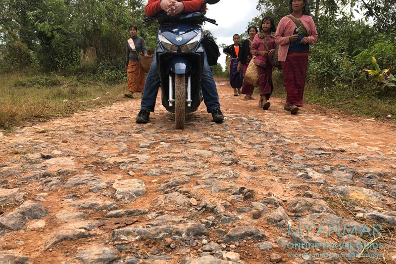 Myanmar Reisetipps | Kalaw | Steiniger Weg nach Hin Kha Gone