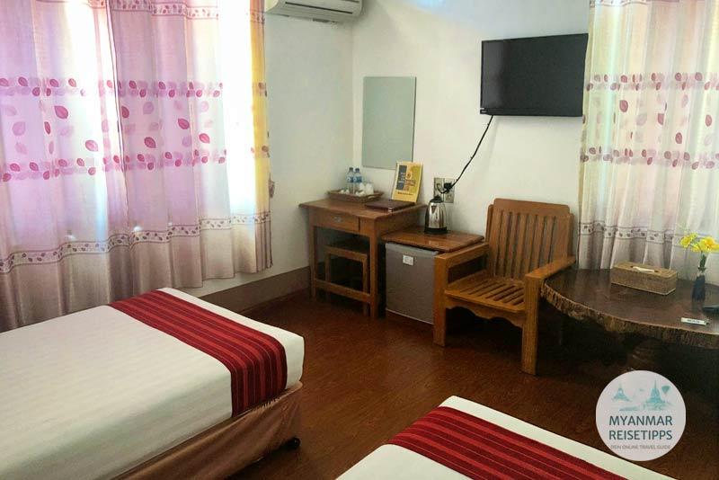 Myanmar Reisetipps | Loikaw | Doppelzimmer im Hotel Myat Nan Taw