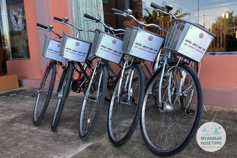 Myanmar Reisetipps | Loikaw | Kostenloser Fahrradverleih im Hotel Myat Nan Taw