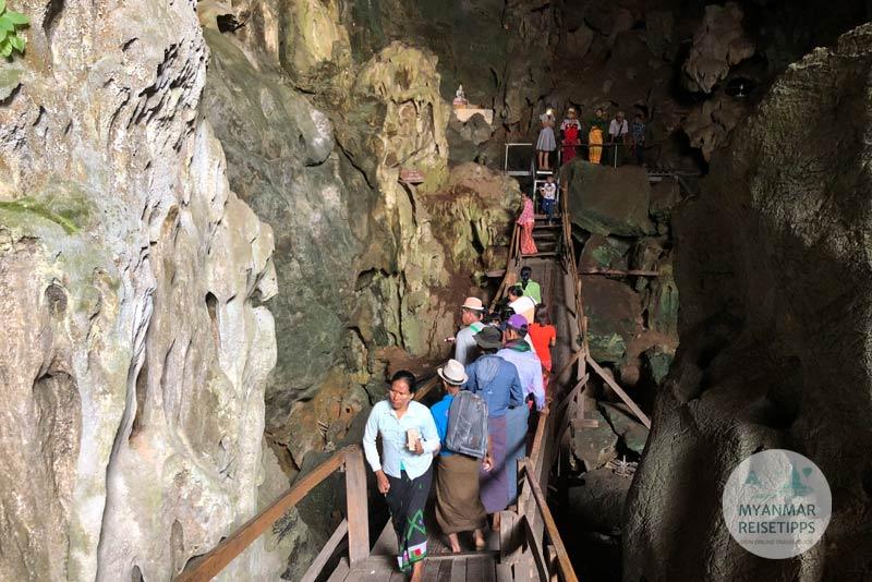 Myanmar Reisetipps | Loikaw | Eingang von der Kyet-Höhle