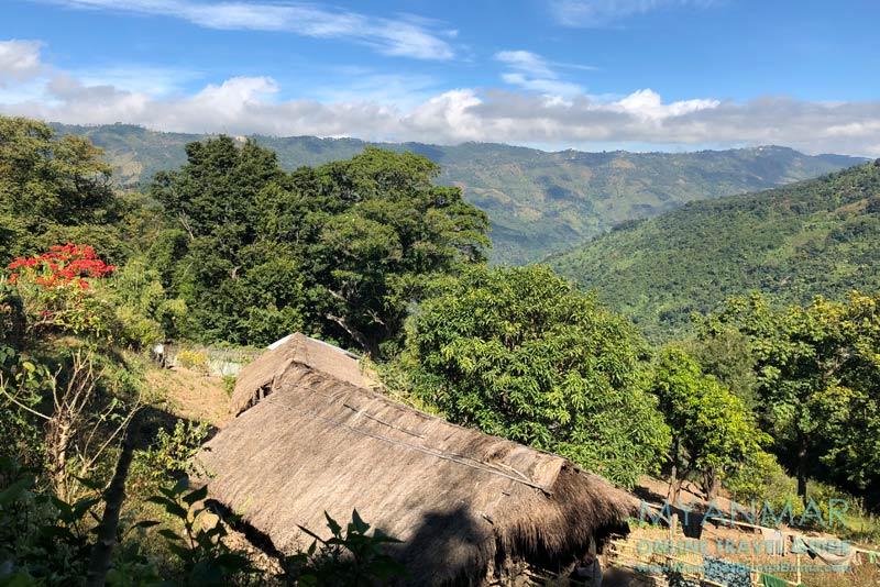 Myanmar Reisetipps | Mindat | Blick vom Chin-Dorf Loute Pe