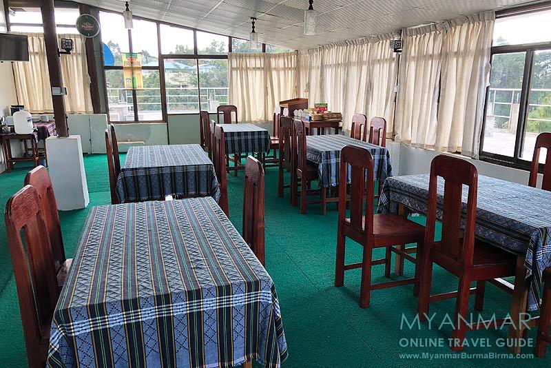 Myanmar Reisetipps | Mindat | Frühstücksraum im Hotel Mindat