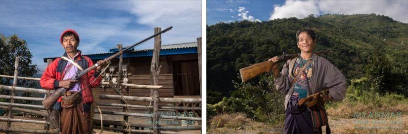 Myanmar Reisetipps | Mindat | Jäger aus dem Dorf An Laung