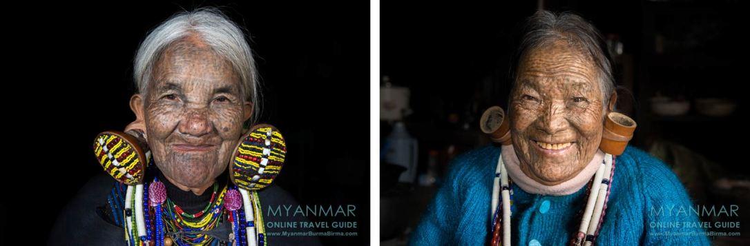 Myanmar Reisetipps | Mindat | Nasenflötistin Yaw Thang (li.) und ihre Freundin Hung Thang