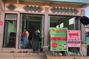 Myanmar Reisetipps | Mindat | Office von Shwe Yaw Man Express im Restaurant Ma Moe