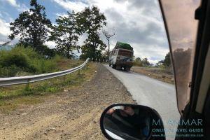Myanmar Reisetipps | Mindat | Straße von Pakokku nach Mindat