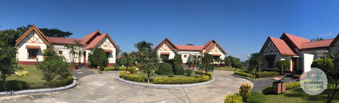 Myanmar Reisetipps | Naypyidaw | Bungalows im Hotel Myat Taw Win