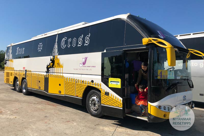 Myanmar Reisetipps | Naypyidaw | JJ Express Bus nach Yangon