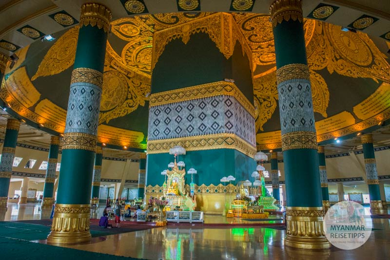 Myanmar Reisetipps | Naypyidaw | Im Innern der Uppatasanti-Pagode