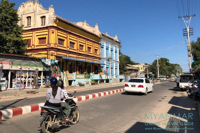 Myanmar Reisetipps | Pakokku | Die Myoma Road quert das Stadtzentrum.