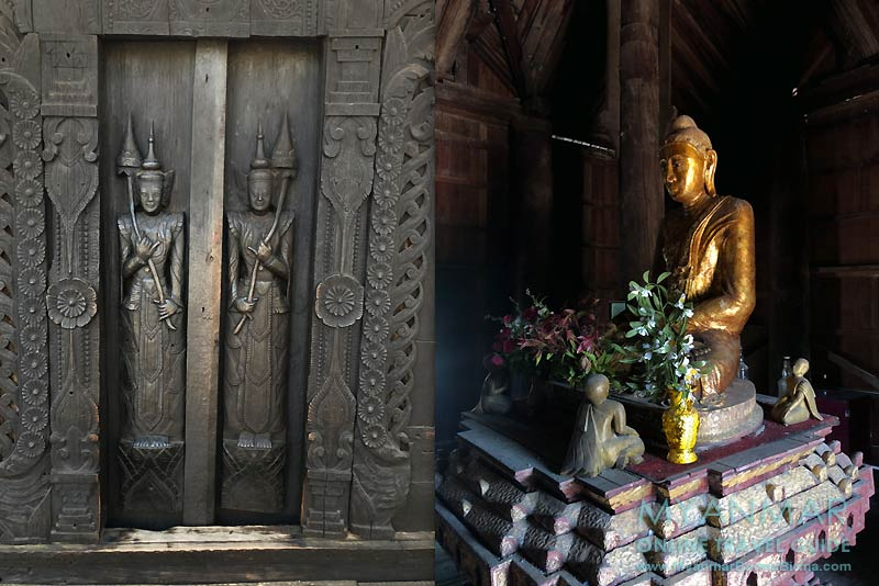 Myanmar Reisetipps | Pakokku | Schnitzereien und Buddha im Teakholzkloster Kyaung Daw Gyi