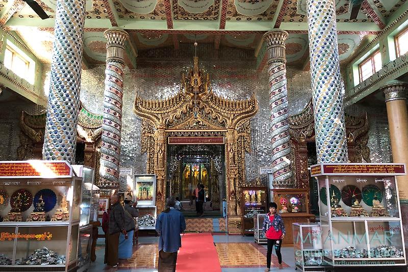 Myanmar Reisetipps | Pakokku | Thihoshin-Pagode mit drei stehenden Buddha-Statuen
