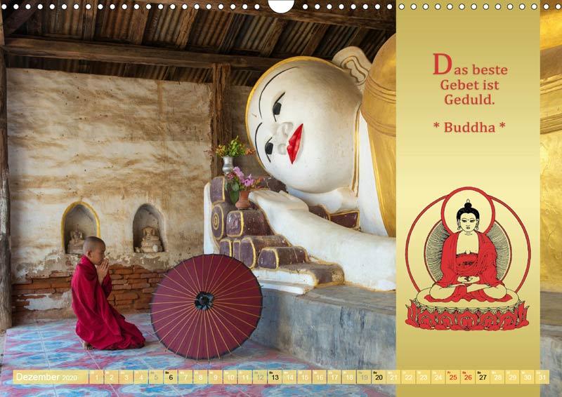 Kalender 2020 DER ROTE SCHIRM - Buddhistische Weisheiten