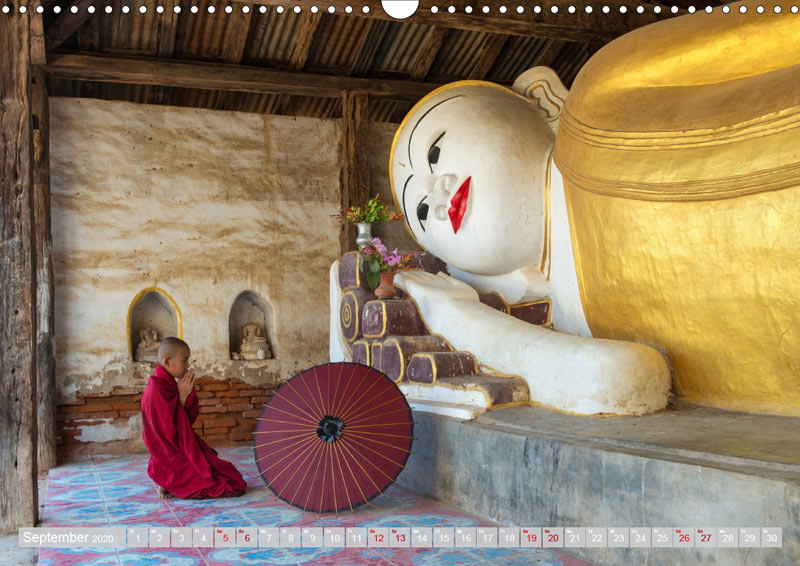 Kalender 2020 DER ROTE SCHIRM - Im Reich des Buddha