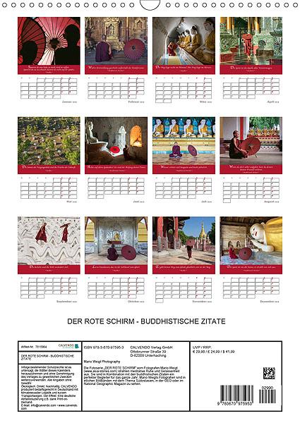 DER ROTE SCHIRM 2020 Planer mit buddhistischen Zitaten von Mario Weigt