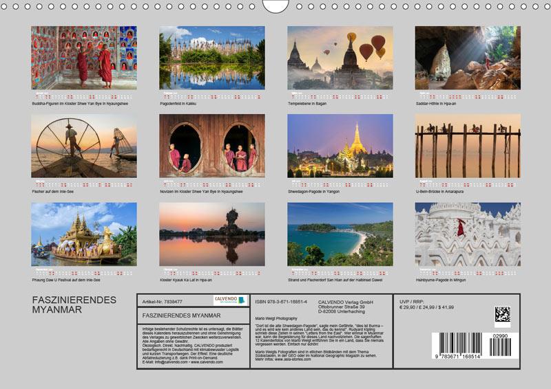 Motive vom Wandkalender für 2020 | MYANMAR | Fotos: Mario Weigt